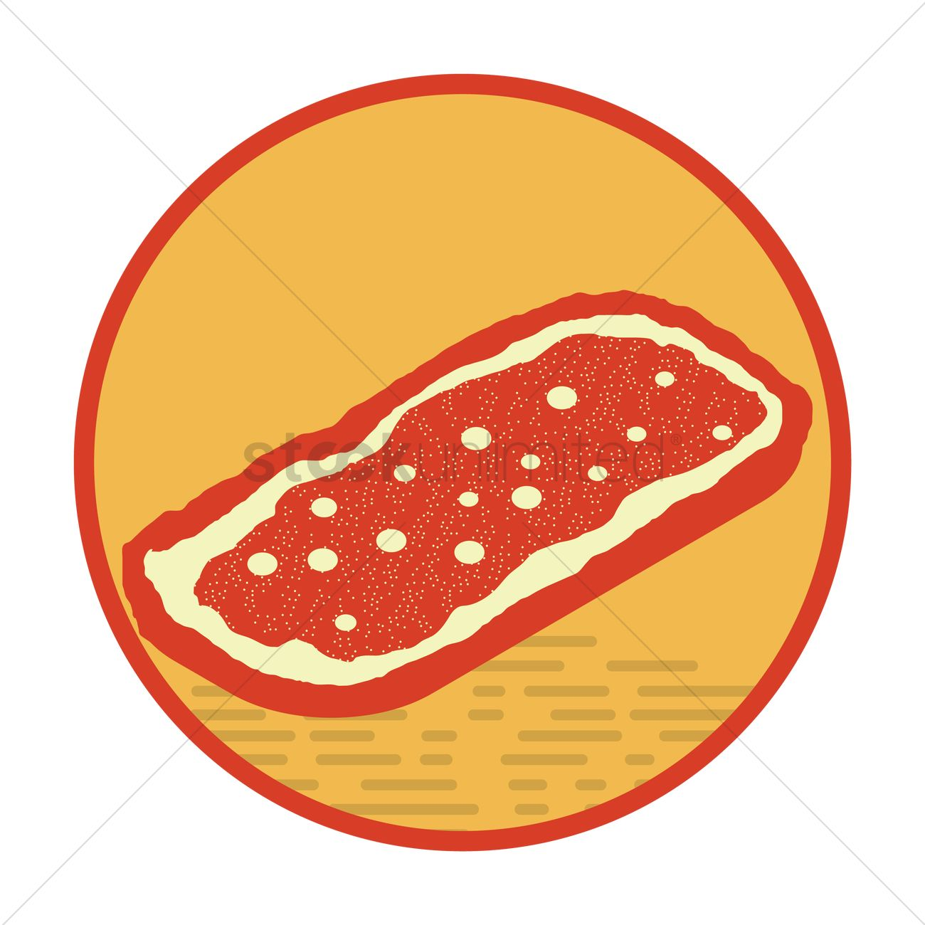 Canadian fried dough pastry Vector Image.