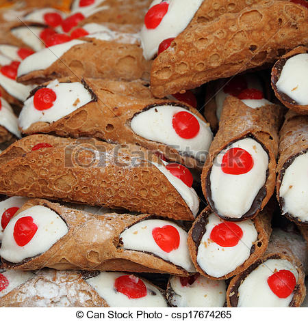 Stock Image of Cannoli.