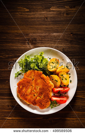 Fried Pork Chops Stock Photos, Royalty.