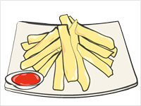 Fried Potatoes Clipart.