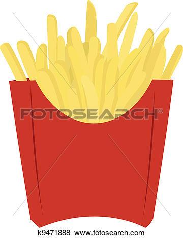Clip Art of Fried potato k9471888.