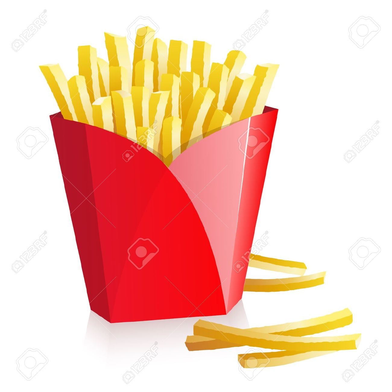French Fries In A Red Box Royalty Free Cliparts, Vectors, And.