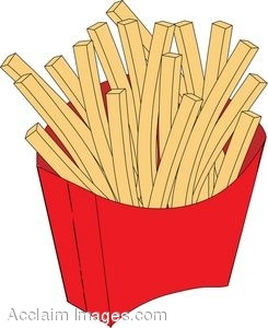 French fry clipart free.