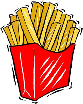 Mcdonalds french fries clipart.