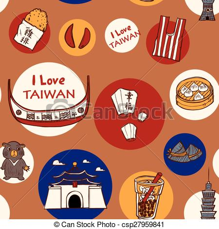 EPS Vector of Taiwan travel concept background.