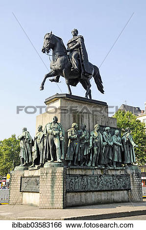 """Stock Images of """"Equestrian monument to Kaiser Friedrich Wilhelm."""