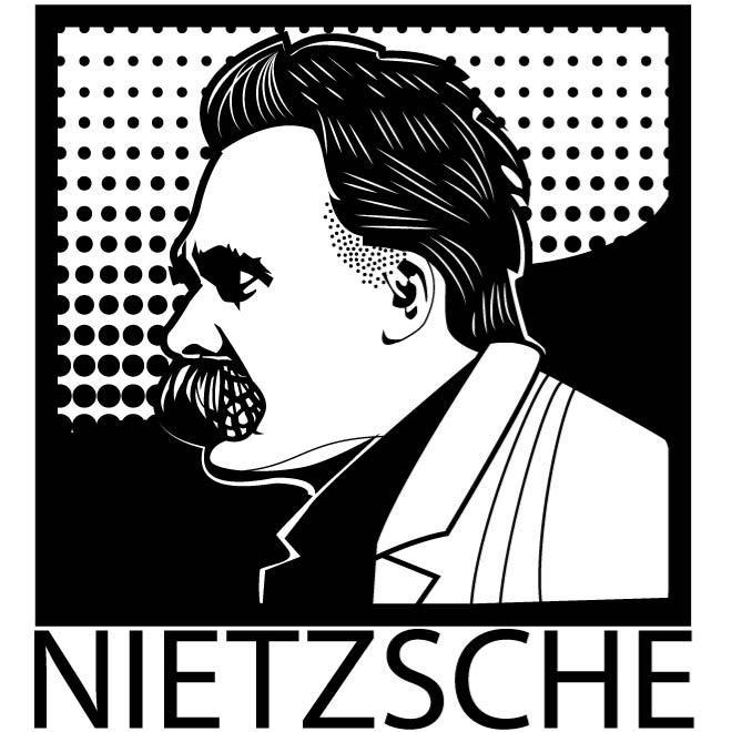 PORTRAIT OF FRIEDRICH NIETZSCHE.