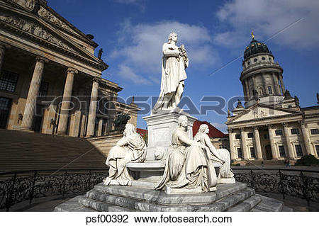 Stock Photo of Germany, Berlin, Memorial, Friedrich Schiller.