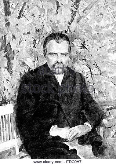 Nietzsche Friedrich Wilhelm Nietzsche German Stock Photos.