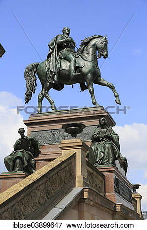 """Picture of """"Equestrian statue of King Friedrich Wilhelm IV outside."""