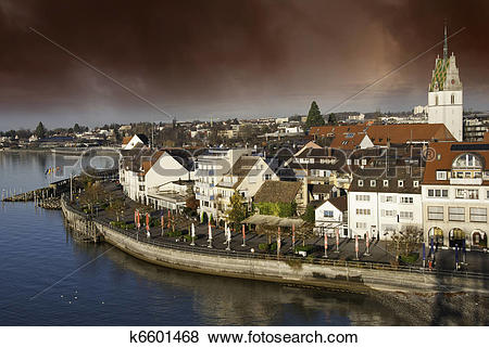 Pictures of Typical Homes and Buildings of Friedrichshafen.