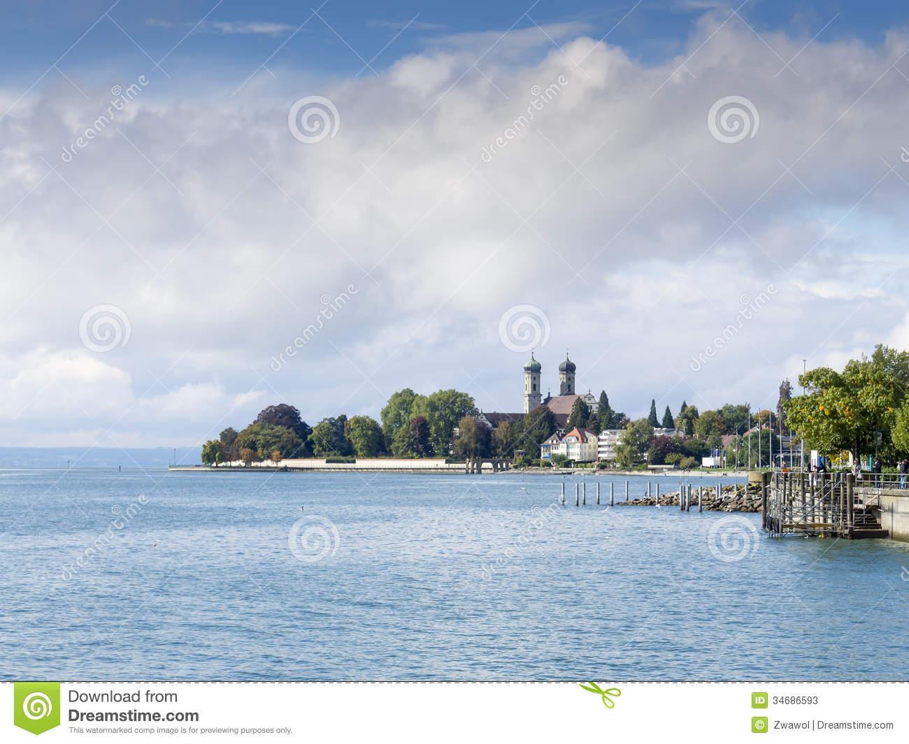 View To The Lake Bodensee At Friedrichshafen Stock Photos.