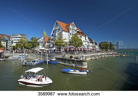 Picture of Pedal boats in harbour, Friedrichshafen, Baden.