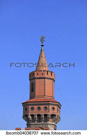 "Picture of ""Tower of Oberbaumbrucke, North Tower, with the Berlin."