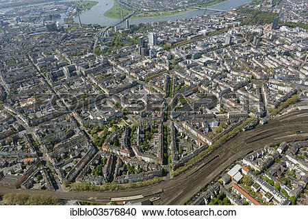 "Stock Photography of ""Aerial view, Friedrichstadt quarter with the."