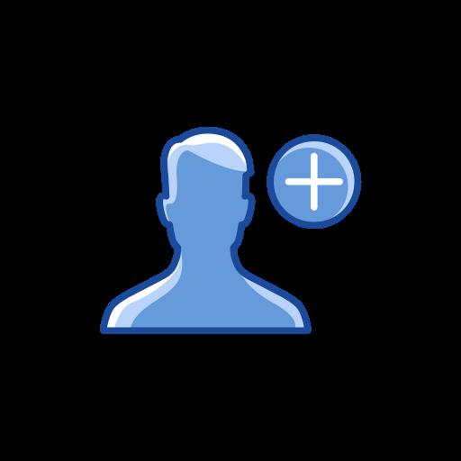 Add contact, add friend, friend request, user icon.