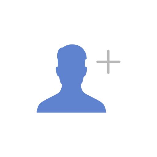 Add, add contact, add friend, friend request icon.