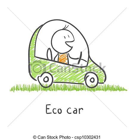 Vectors of Eco friendly car csp10302431.