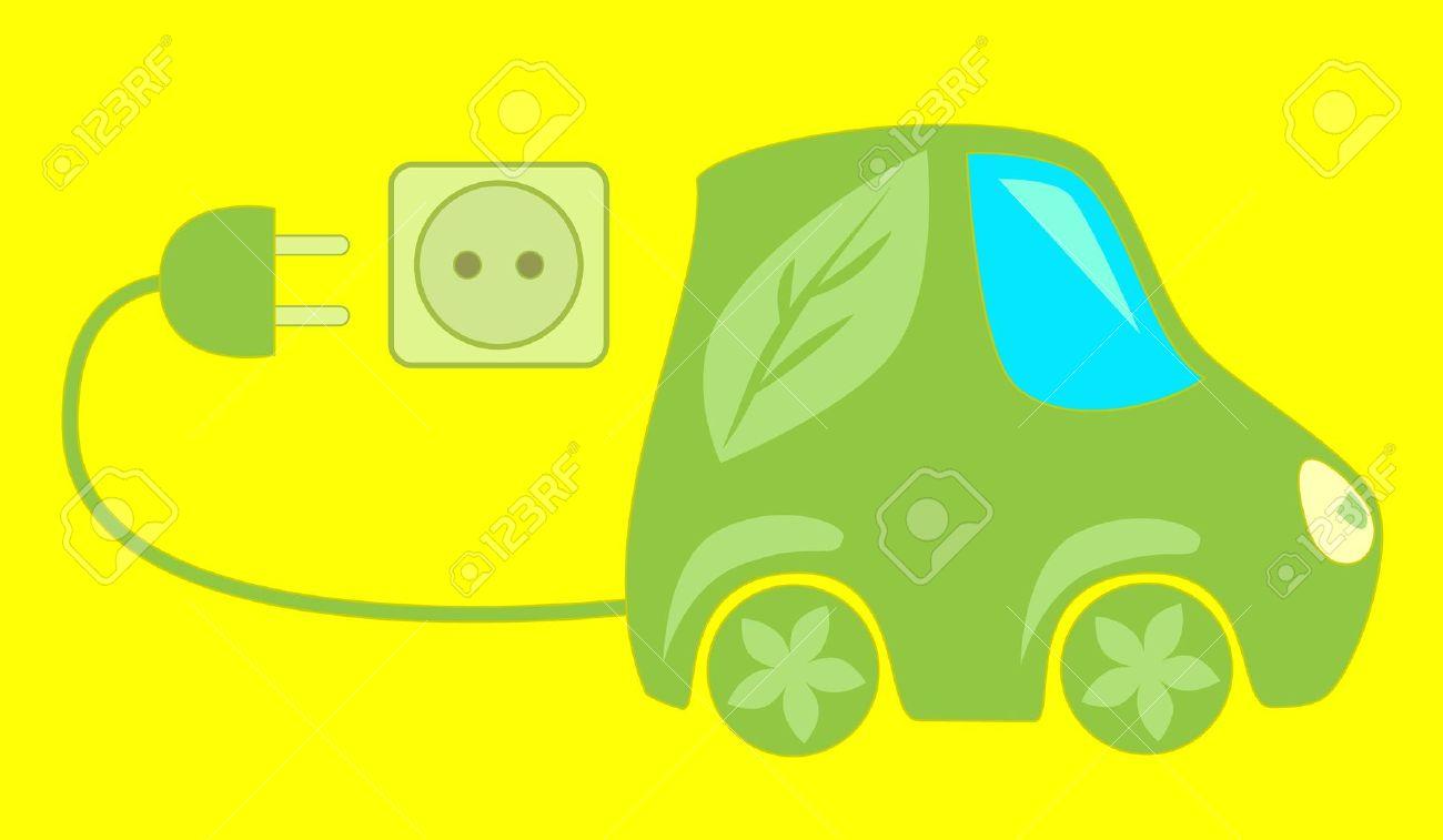 Environment Friendly Car Clipart.