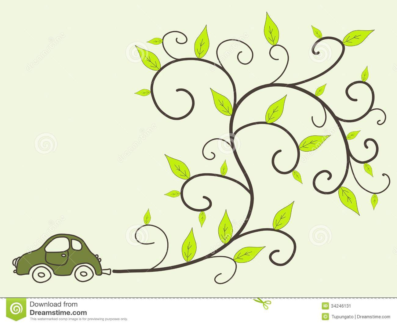 Environment Friendly Car Clipart.