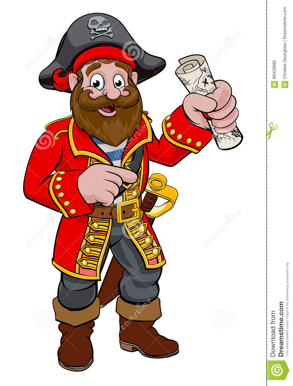 Cartoon Pirate stock vector. Illustration of clipart.