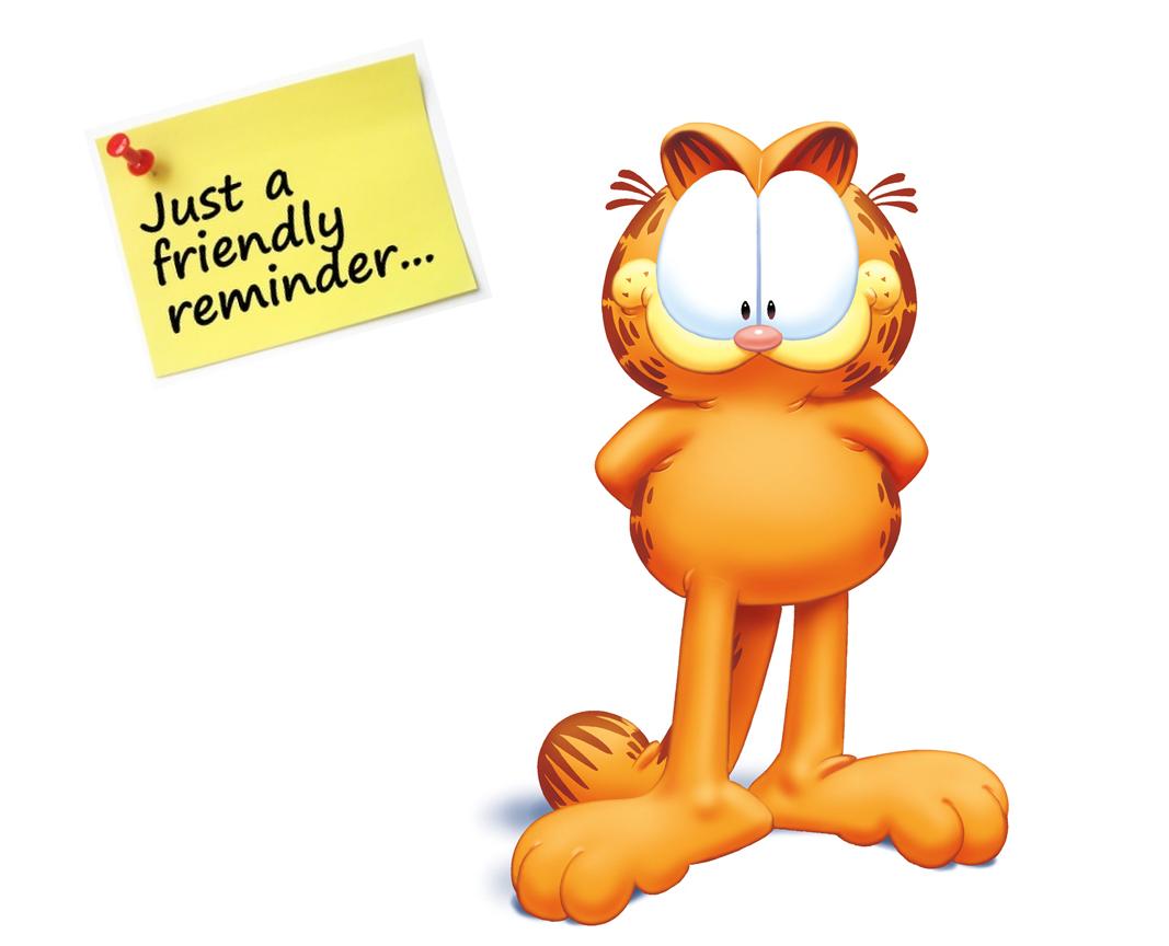 Friendly Reminder Image.