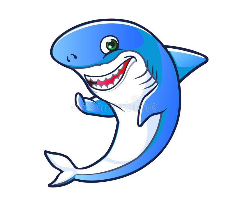 Friendly Shark Stock Illustrations.