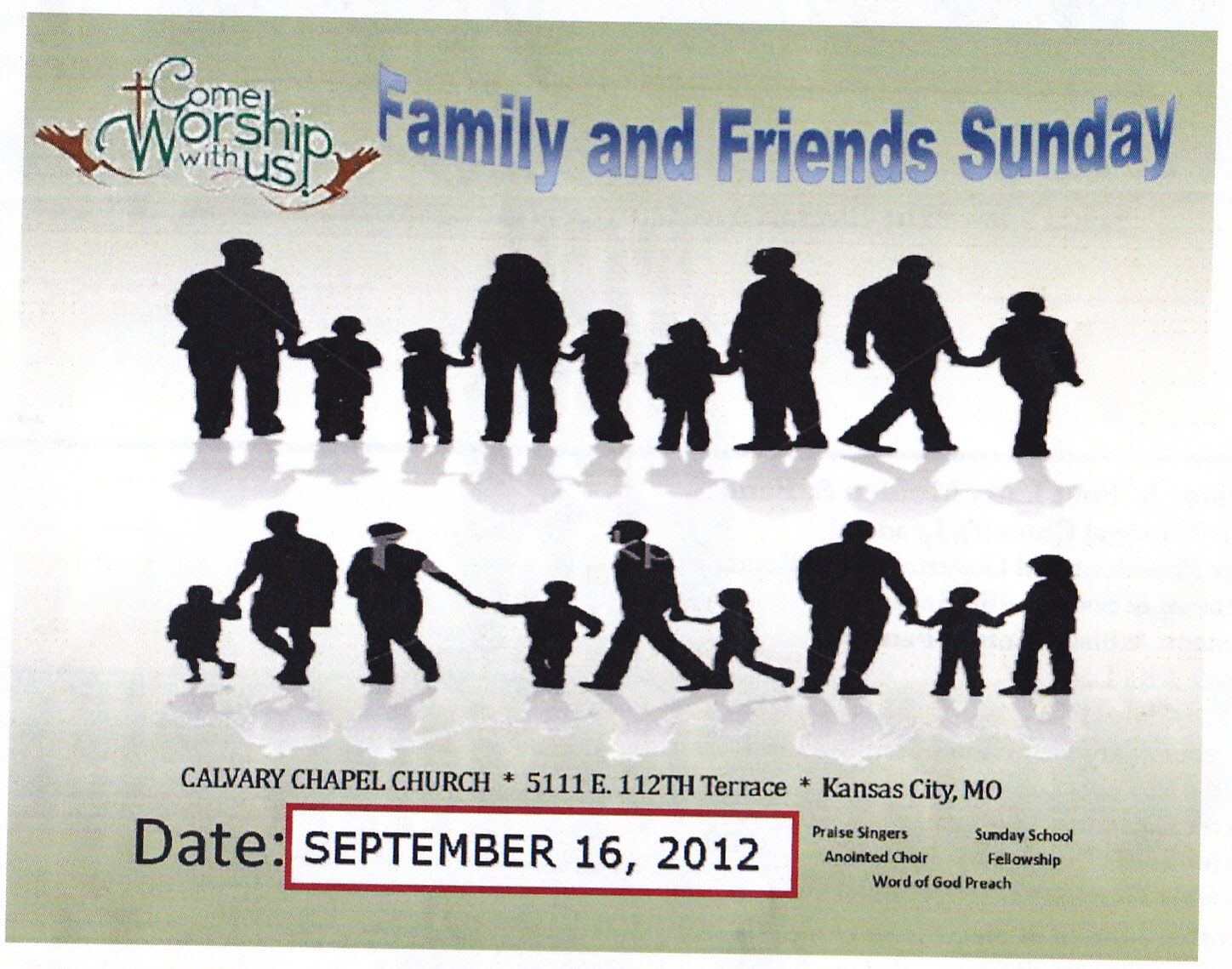 Family Day Church Clipart.