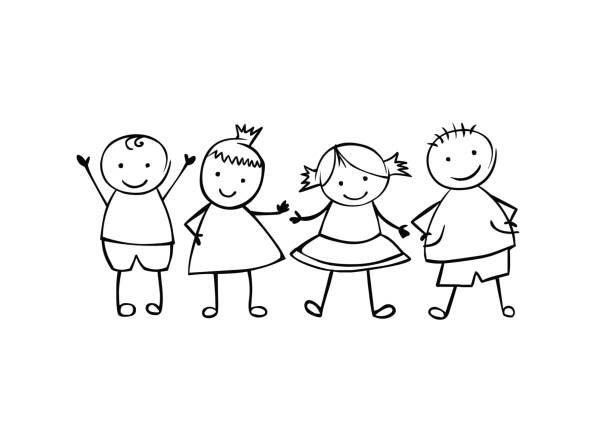 Kindergarten Doodle White Background Clip #346350.