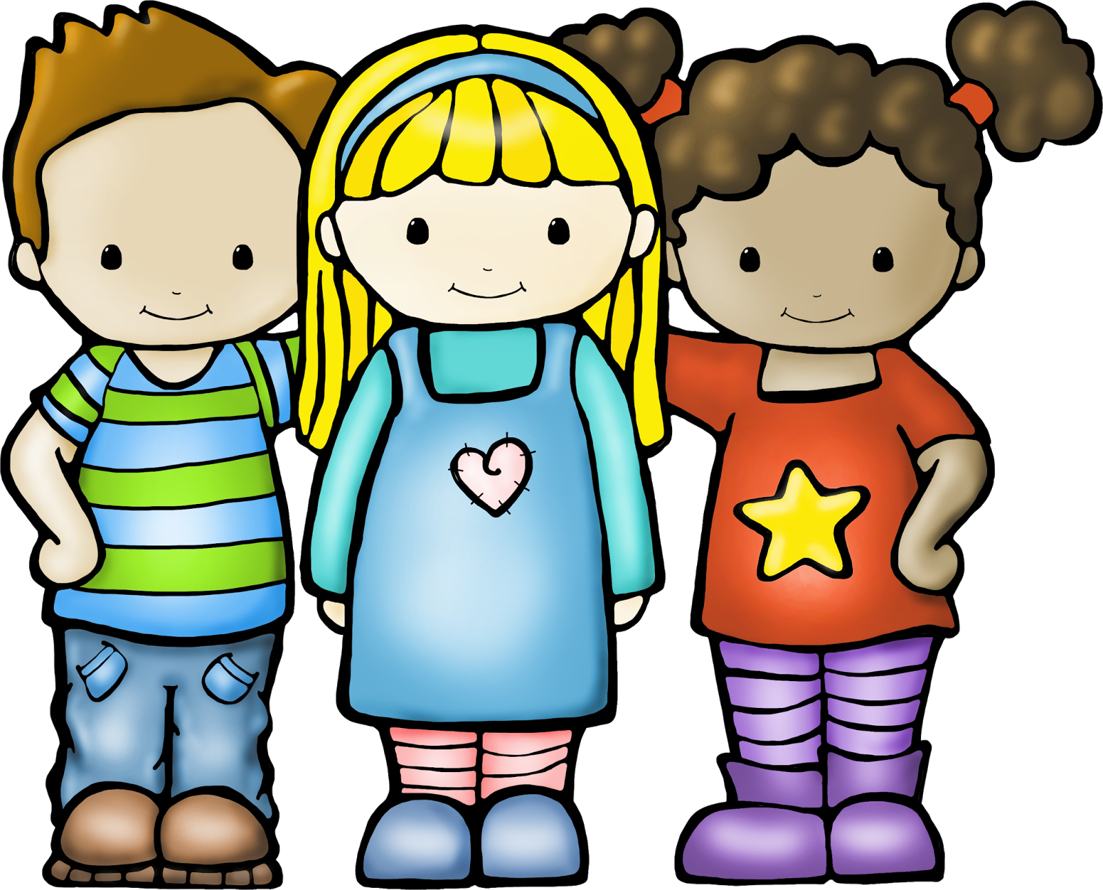 Kids Friends Clipart Transparent Background.