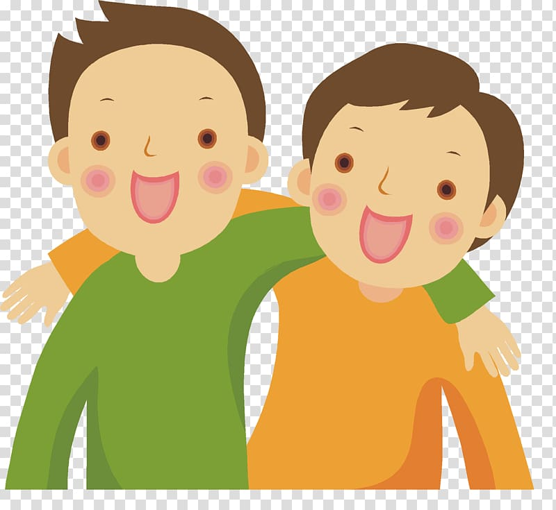 Friendship , friends transparent background PNG clipart.