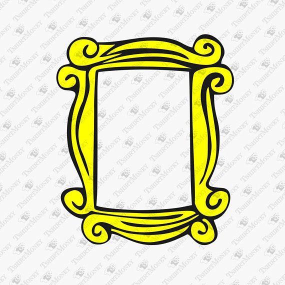 Friends TV Show Peephole Frame SVG, Friends Show Cut File, Friends.