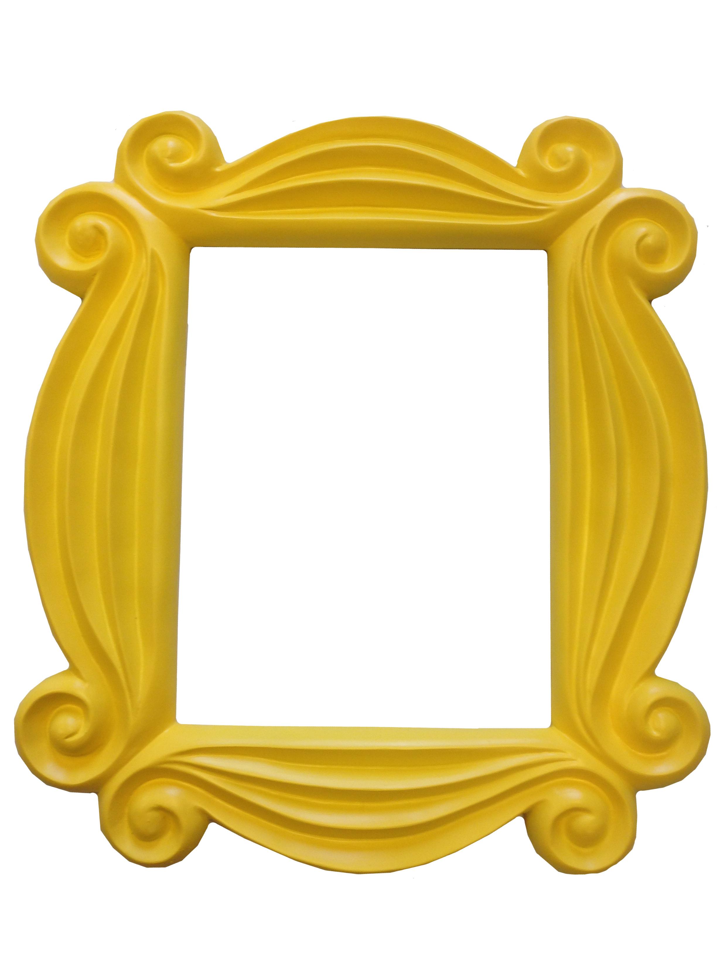 Friends Yellow Peephole Picture Frame Door TV Show Monica Hanging  F.