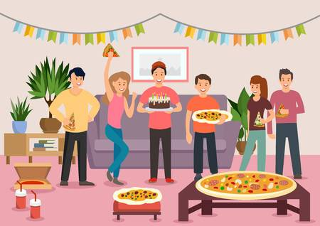 217 Friends Eating Pizza Cliparts, Stock Vector And Royalty Free.