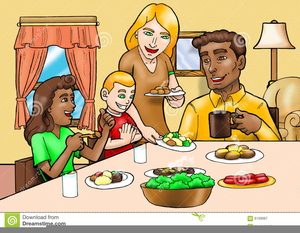Clipart Friends Eating Together.