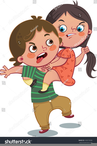 Friends Fighting Clipart.