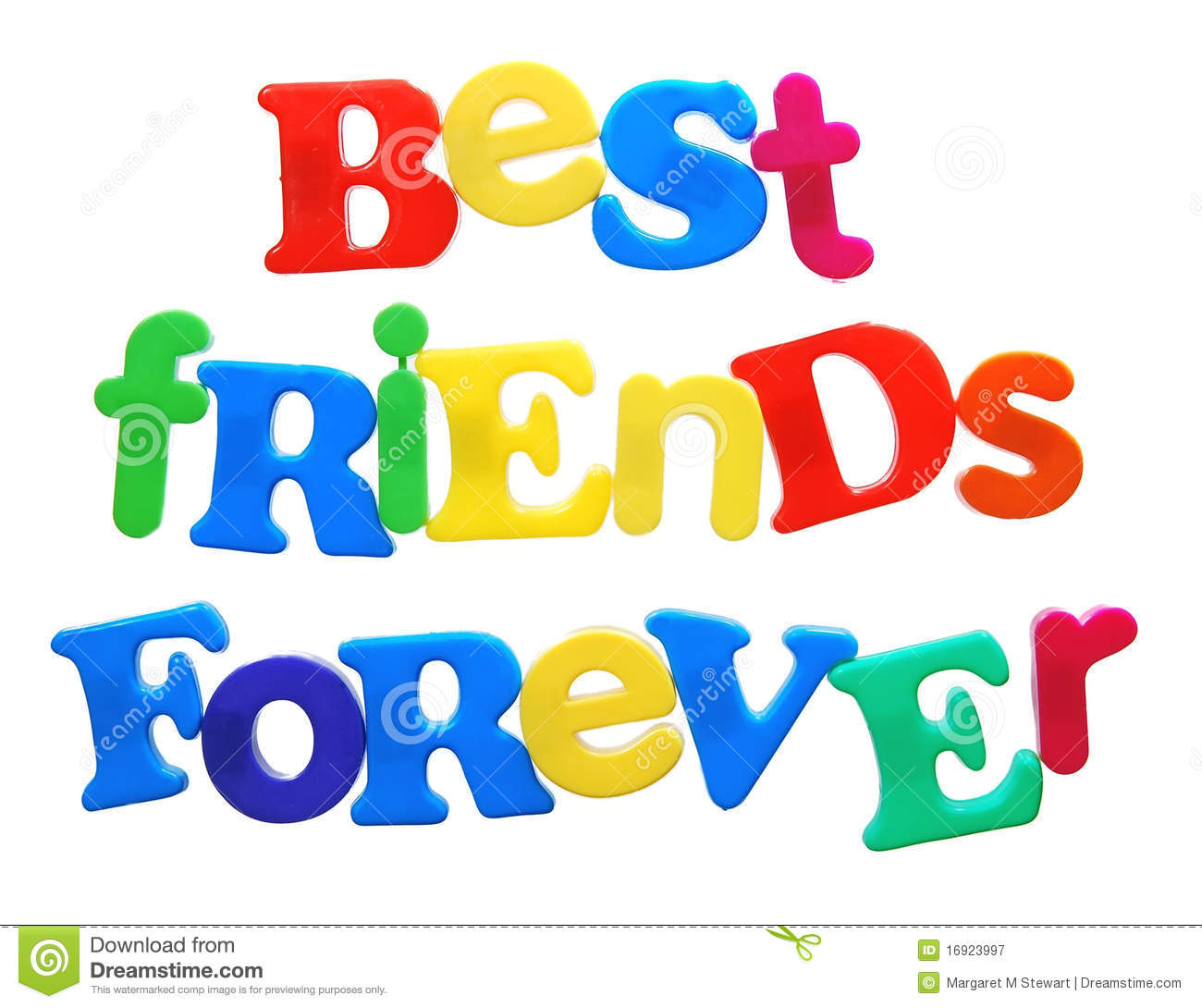 Best friends forever clip art.