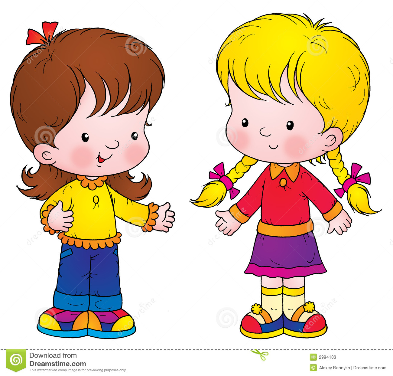 Clipart Girl Friends.