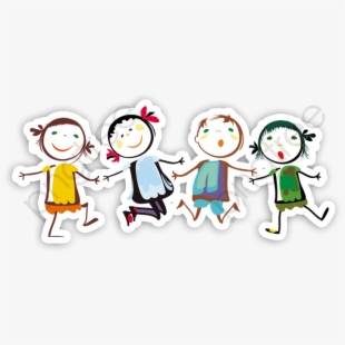 Cartoon Children Holding Hands , Transparent Cartoon, Free Cliparts.