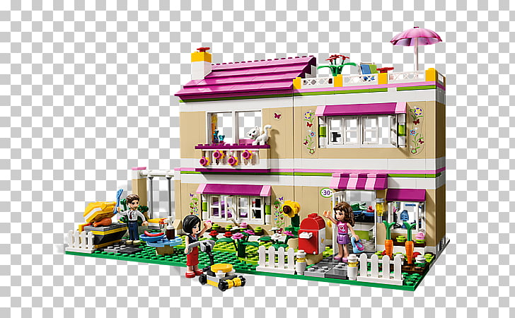 LEGO 3315 Friends Olivia\'s House Toy Lego minifigure, pizza.