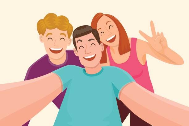 Top 60 Friends Laughing Clip Art, Vector Graphics and Illustrations.