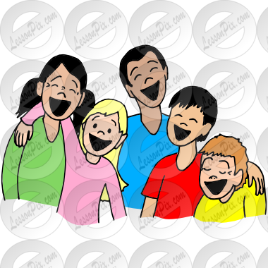 Friends Laughing Picture for Classroom / Therapy Use.
