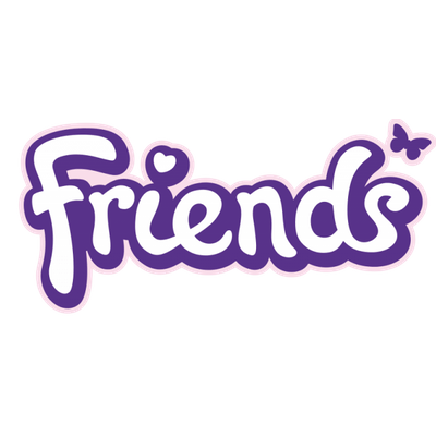 Lego Friends Logo transparent PNG.