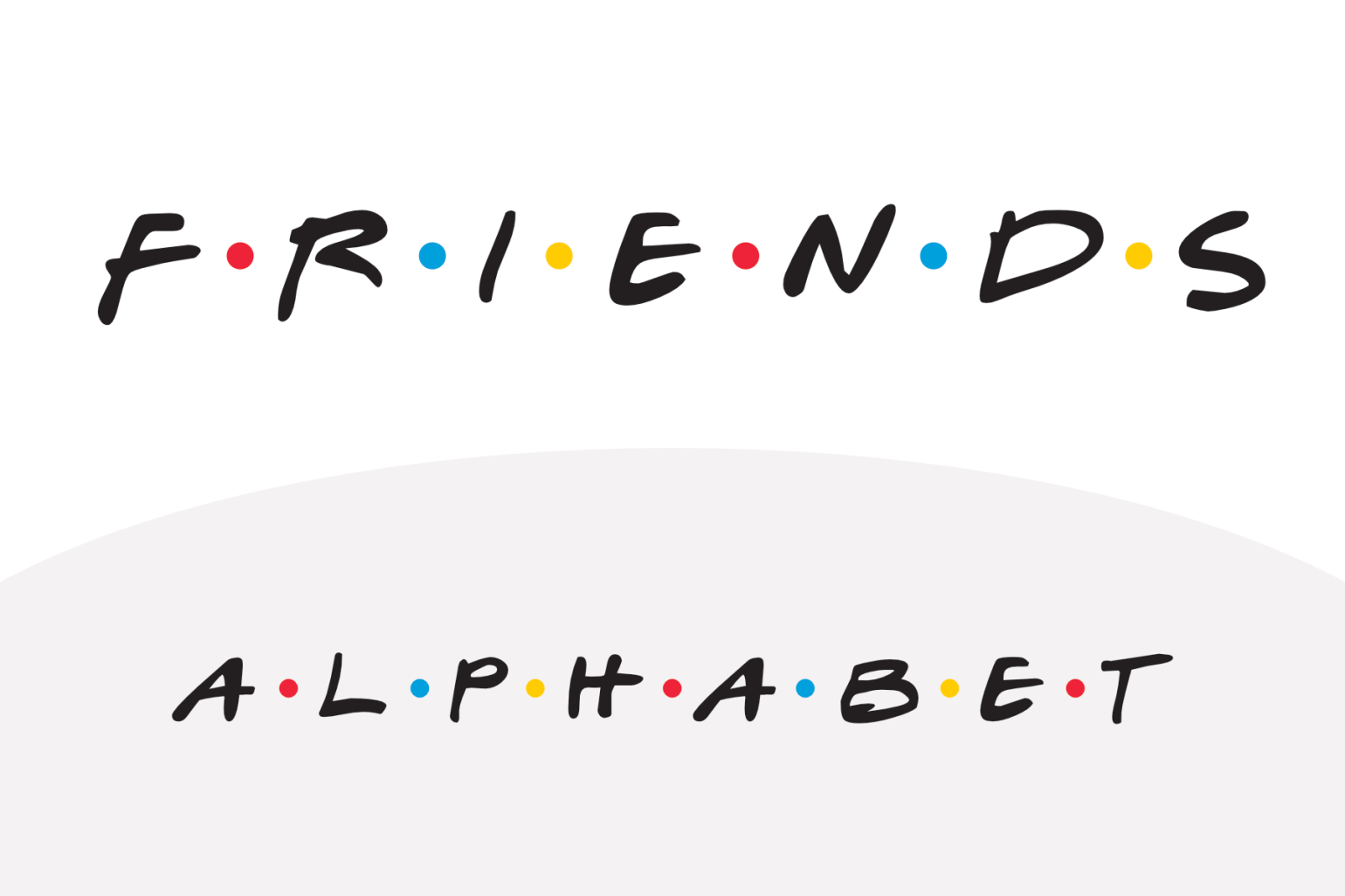 printable alphabet of the friends tv show font.