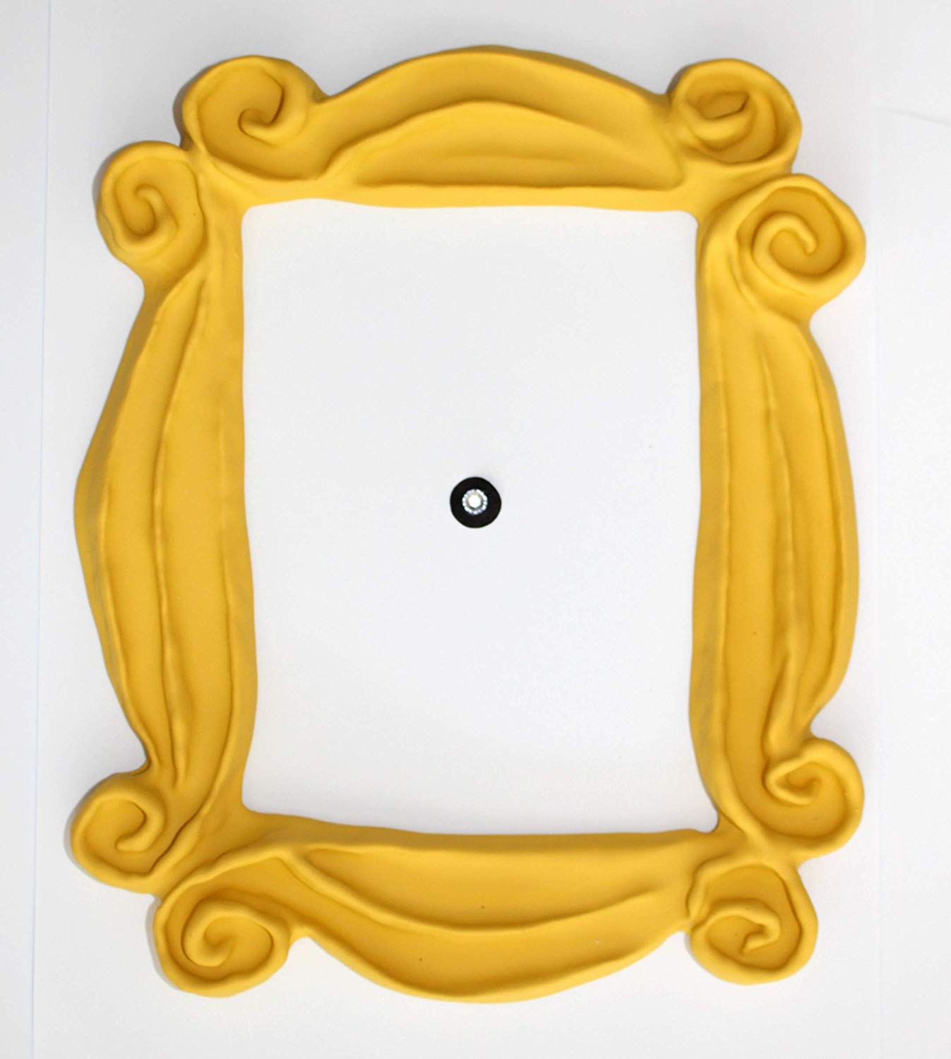 Handmade with Love by Fatima Peephole Yellow Frame. Replica of The Frame  seen in Monica's Door. It has Two Side Tape. Ready to Hang..