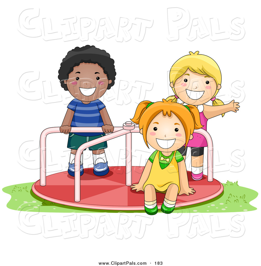 Boy Playing With Friends Clipart.