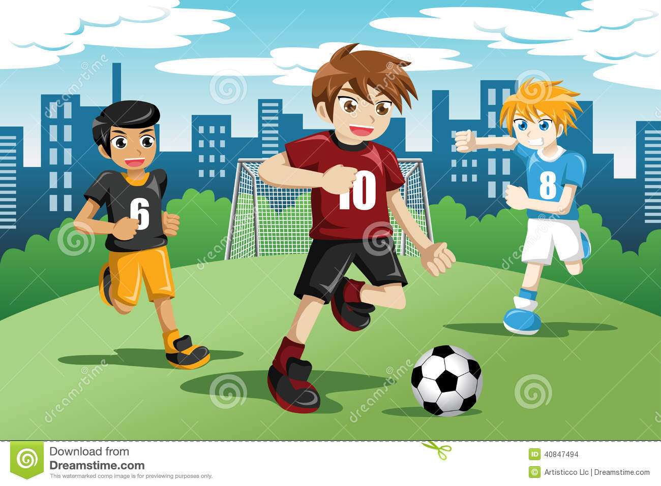 friends playing soccer clipart - Clipground