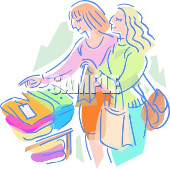 Best Friends Shopping for Clothes.
