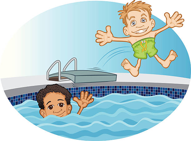 friends swimming clipart - Clipground