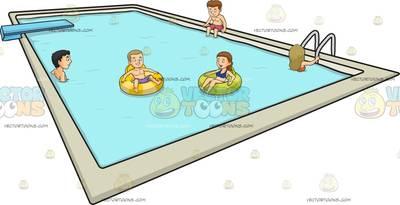 swimming pool Cartoon Clipart.